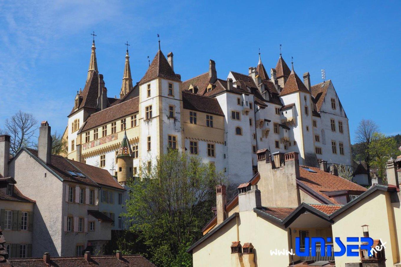 Il castello di Neuchâtel, sede del parlamento cantonale