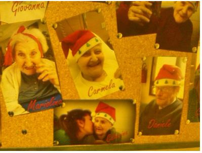 Natale alla casa di riposo Pietro Zangari